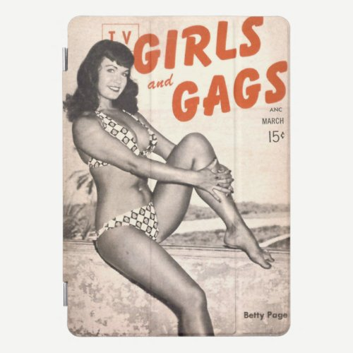 """""""TV Gags and Gals"""" iPad cover feat. Bettie Page"""