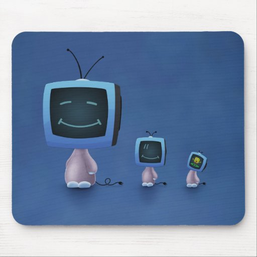 TV Heads (Color 2) Mouse Pad