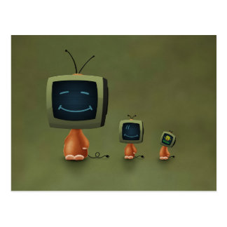 TV Heads Postcard