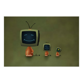 TV Heads Poster