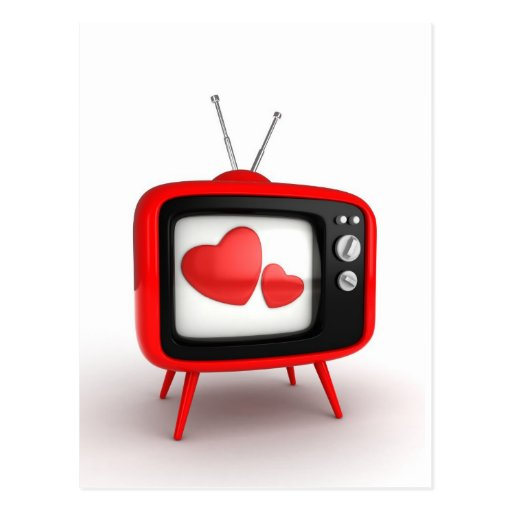 TV Hearts Postcard