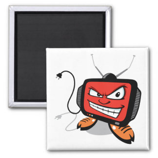 Tv is Evil!! 2 Inch Square Magnet