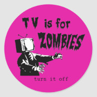 TV is for zombies Sticker