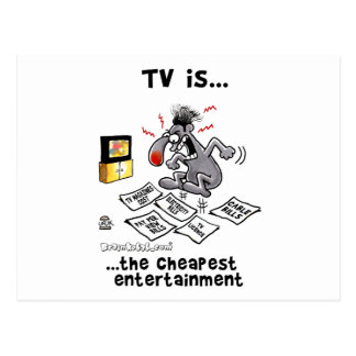 TV is... The Cheapest Entertainment Postcard