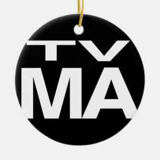 TV MA ADORNO NAVIDEÑO REDONDO DE CERÁMICA