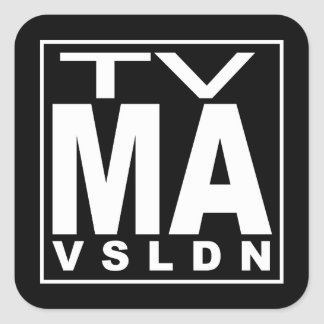 TV MA Rating Square Sticker