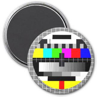 TV 3 INCH ROUND MAGNET