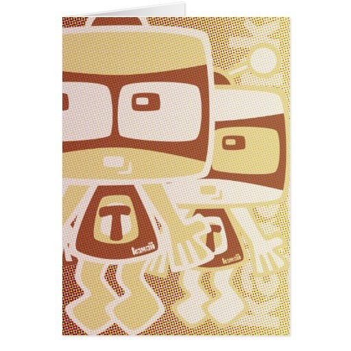 TV Mascot Greeting Cards