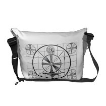 TV Messenger Bag - Indian Head Test Pattern