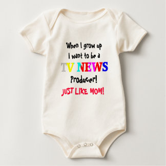 TV News Baby Bodysuit