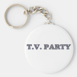 TV Party  Keychain