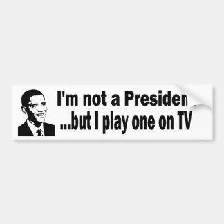 TV president Car Bumper Sticker