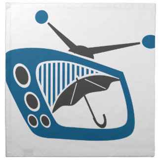 TV Rain Umbrella Forecast Cloth Napkin