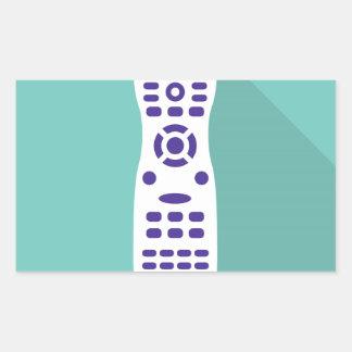 TV remote Rectangular Sticker