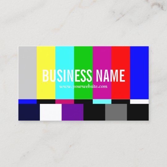 Tv spectrum film editor video production business card zazzle tv spectrum film editor video production business card colourmoves