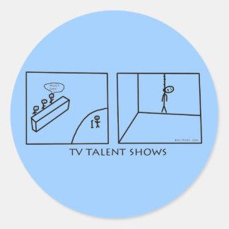 TV Talent Shows Classic Round Sticker