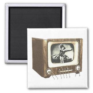 TV Television Set Retro Vintage Drawing Magnet