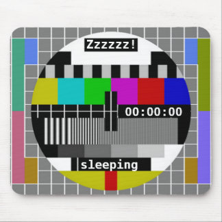 Tv Test Card Closedown Mouse Pad