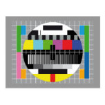 TV test screen Post Card