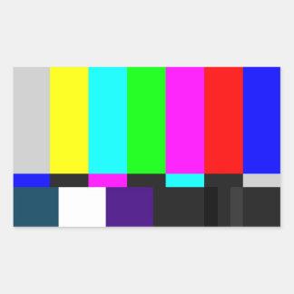 TV Test Screen Rectangular Stickers