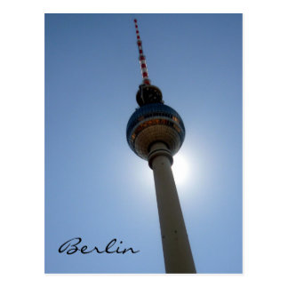 tv tower berlin postcard