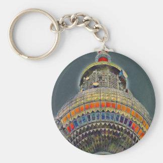 Tv Tower (Fernsehturm), Berlin, Art Effect Basic Round Button Keychain