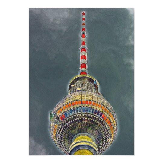 Tv Tower (Fernsehturm), Berlin, Art Effect Card