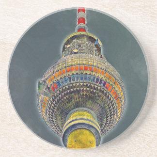 Tv Tower (Fernsehturm), Berlin, Art Effect Drink Coasters