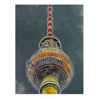 Tv Tower (Fernsehturm), Berlin, Art Effect Postcard