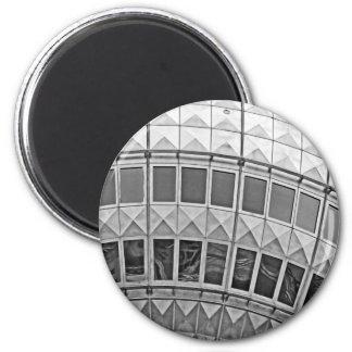 Tv Tower (Fernsehturm), Berlin, Artistic (tv15bw) 2 Inch Round Magnet