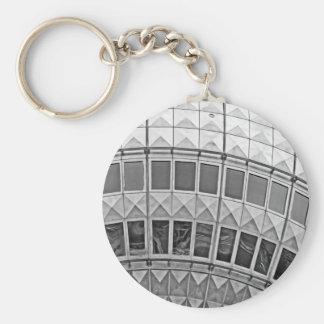 Tv Tower (Fernsehturm), Berlin, Artistic (tv15bw) Basic Round Button Keychain