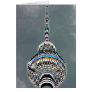 Tv Tower (Fernsehturm), Berlin, Artistic (tv2art2) Greeting Card