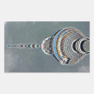 Tv Tower (Fernsehturm), Berlin, Artistic (tv2art2) Rectangular Sticker