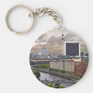 Tv Tower (Fernsehturm), Berlin, Panoramic(tv11pst) Basic Round Button Keychain