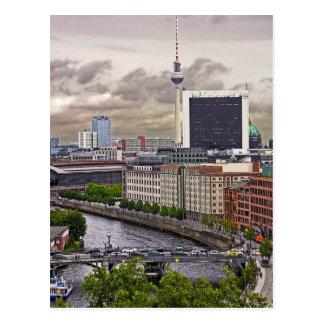 Tv Tower (Fernsehturm), Berlin, Panoramic(tv11pst) Postcard