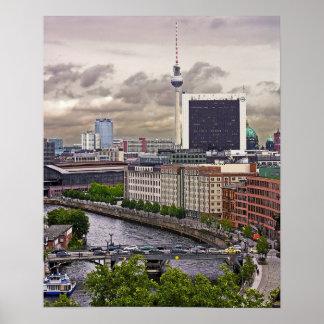 Tv Tower (Fernsehturm), Berlin, Panoramic(tv11pst) Poster