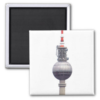 Tv Tower (Fernsehturm), Berlin,Red (tv14) 2 Inch Square Magnet