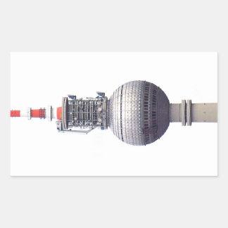 Tv Tower (Fernsehturm), Berlin,Red (tv14) Rectangular Sticker