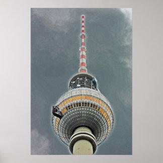 Tv Tower (Fernsehturm), Berlin (tv2) Poster