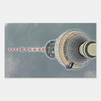 Tv Tower (Fernsehturm), Berlin (tv2) Rectangular Sticker