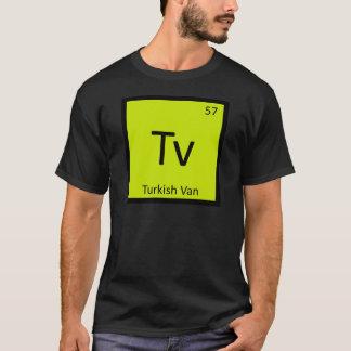 Tv - Turkish Van Cat Chemistry Periodic Table T-Shirt