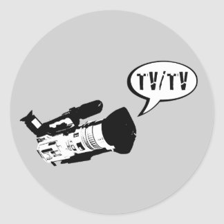 TV/TV CLASSIC ROUND STICKER