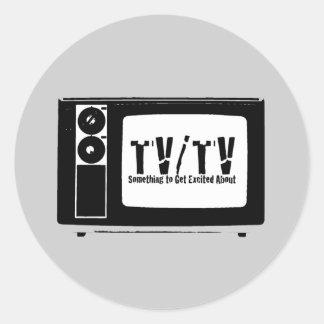 TV/TV ROUND STICKER