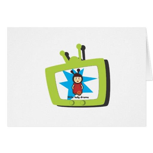 TV verde LLD Tarjeta De Felicitación