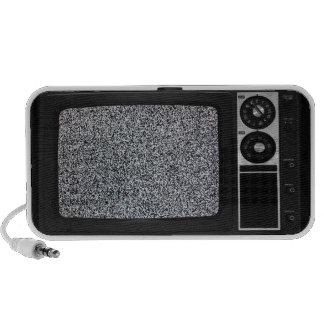 TV vieja retra con la pantalla estática Mp3 Altavoces