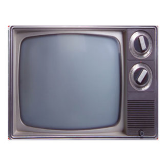 TV vieja Tarjeta Postal