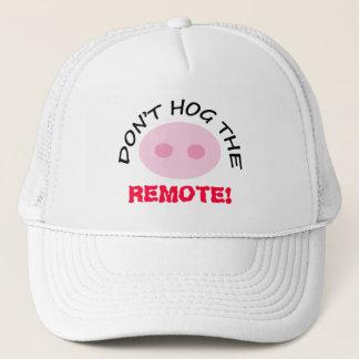 TV Watcher Don't Hog Remote Cute Pink Pig Nose Hat