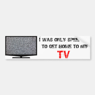 TV with static Bumper Sticker
