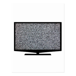 TV with static Postcard