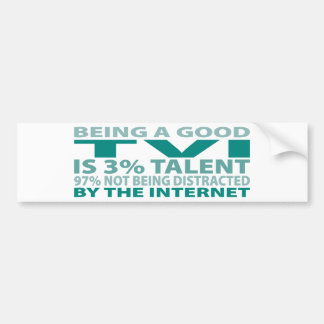 TVI 3% Talent Bumper Sticker